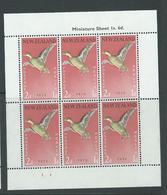 New Zealand 1959 Birds 2d + 1d Teal Health Charity Miniature Sheet MNH - New Zealand