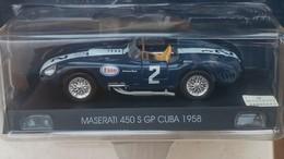 Gedetailleerde MASERATI 450 S GP CUBA 1958 - See The Foto S  For Condition. ( Originalscan ) - Auto's, Vrachtwagens, Bussen