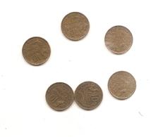 6 Pieces De 10 Francs Guiraud 1951/51B/52/52B/53B/55 - France
