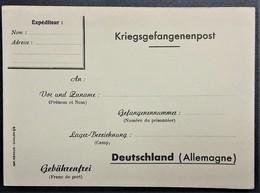 Carte De Franchise Militaire Pour Prisonnier De Guerre En Allemagne éditée à Chalon-sur-Saone - Cartes De Franchise Militaire