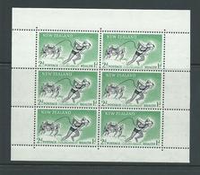 New Zealand 1957 2d + 1d Lifesaver Health Charity Miniature Sheets Upright Watermark MLH - New Zealand