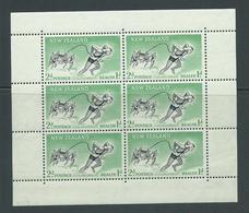 New Zealand 1957 2d + 1d Lifesaver Health Charity Miniature Sheets Sideways Watermark MNH - New Zealand