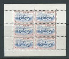 New Zealand 1957 3d + 1d Children In Sea Health Charity Miniature Sheets Sideways Watermark MLH - New Zealand