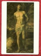 PS54---SAN SEBASTIANO -----CM. 15,5 X 22,5 ---RETRO BIANCO - Images Religieuses