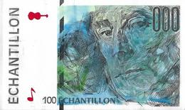 Test Note - FCO-332, 100 Echantillion, Oberthur - 3rd Largest Banknote Printer - Specimen