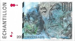 Test Note - FCO-333, 200 Echantillion, Oberthur - 3rd Largest Banknote Printer - Specimen