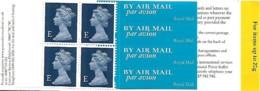 Grande-Bretagne Great Britain 1999 Elizabeth II  4 X E (dark Blue)+ Labels Walsall ,1 Booklet Carnet Mnh - Carnets