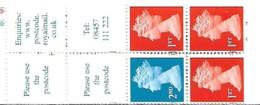 Grande-Bretagne Great Britain 1999 Elizabeth II  3 X 1st (orange) + 1 X 2 Nd (blue) House Questa ,1 Booklet Carnet Mnh - Carnets