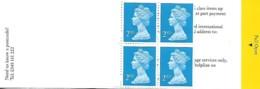 Grande-Bretagne Great Britain 2000 Elizabeth II 4 X 2 Nd  (bleu) Walsall, 1 Carnet Booklet Mnh - Carnets