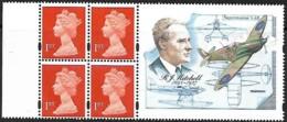 "Grande-Bretagne Great Britain 1995  Booklet Pane 4 X 1 St + Label ""R.J.Mitchell"" Centenary  Mnh - 1952-.... (Elizabeth II)"