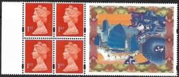 "Grande-Bretagne Great Britain 1997  Booklet Pane 4 X 1 St + Label ""Hong Kong Philatelic Exhibition""   Mnh - 1952-.... (Elizabeth II)"
