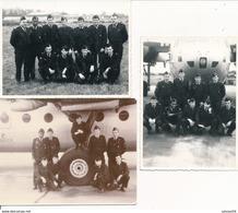 3 Photos Militaires - Même Groupe D'aviateurs - Guerre, Militaire