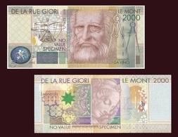 Test Note - Le Monte 2000, Da Vinci, Mona Lisa Specimen By Giori & Landquart UNC - United Kingdom