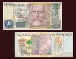 Test Note - Le Monte 2000, Da Vinci, Mona Lisa Specimen By Giori & Landquart UNC - Groot-Brittannië