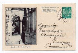 1938 YUGOSLAVIA, CROATIA, SPLIT, PERISTIL, USED, ILLUSTRATED STATIONERY CARD - Interi Postali