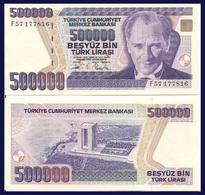 Turkey P208, 500,000 Lirasi, Atatürk / Monument To Martyrs UNC, OVI Device $9 CV - Turchia