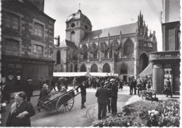 18664) France Alencon Place De L'Eglise Notre Dame Church  Yvon Real Photo RPPC See Others - Alencon