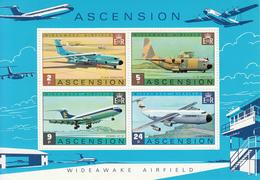 1975 Ascension Military Aviation Planes  Souvenir Sheet MNH - Ascension (Ile De L')