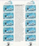1981 Ascension Space Shuttle Miniature Sheet Of 10 MNH - Ascension (Ile De L')
