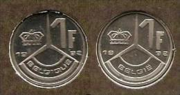 1 Frank 1992 Frans+vlaams * Uit Muntenset * FDC - 1951-1993: Baudouin I
