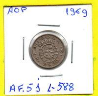 MEC 62 / - Angola Portuguesa - / 2,50 Escudos 1969 / Ex/ Colonia- L-588 - Angola