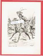 GRAVURE HUSSARDS 1er REGIMENT 1800 ILLUSTRATEUR MAURICE TOUSSAINT - Uniforms