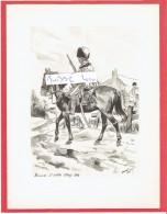 GRAVURE HUSSARDS COMPAGNIE D ELITE 3e REGIMENT 1806 ILLUSTRATEUR MAURICE TOUSSAINT - Uniformes