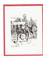 GRAVURE HUSSARDS 7e REGIMENT 1813 ILLUSTRATEUR MAURICE TOUSSAINT - Uniformes
