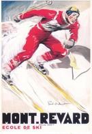 Publicité Mont Revard Ecole De Ski (2 Scans) - Reclame