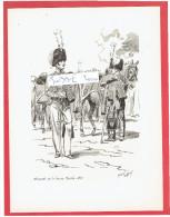 GRAVURE HUSSARDS DE LA GARDE ROYALE 1827 ILLUSTRATEUR MAURICE TOUSSAINT - Uniformes