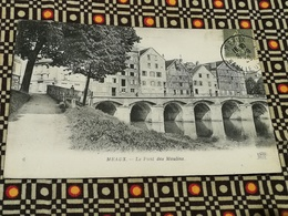 CPA 77 MEAUX (Seine-et-Marne) : Le Pont Des Moulins - Meaux