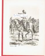 GRAVURE HUSSARDS 1885 ILLUSTRATEUR MAURICE TOUSSAINT - Uniformes