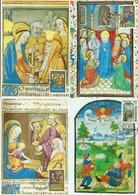 Timbres Caritas 1986-87-88  Pentecote,Annonce Aux Bergers,Visitation ,Les Rois Mages - Cartes Maximum