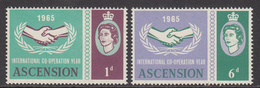 1965 Ascension ICY Cooperation   Complete Set Of 2 MNH - Ascension (Ile De L')