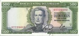 Uruguay P48a, 500 Pesos Gen José Gervasio Artigas / Hydro Dam UNC UV Image $7CV! - Uruguay