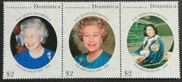 Dominica 1996 Queen Elizabeth II, 70th. Birthday - West Indies