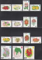 1981 Ascension Flowers Fleurs Definitives  Complete Set Of 15 MNH - Ascension (Ile De L')