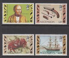 1982 Ascension Darwin Ships Science Complete Set Of 4 MNH - Ascension (Ile De L')