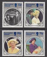 1985 Ascension Queen Mother  Complete Set Of 4 MNH - Ascension (Ile De L')