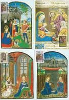 Timbres Caritas 1986-87 Annonciation, Rois Mages, Nativité, Rois Mages - Cartes Maximum