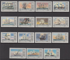 1986 Ascension Ships Definitives Complete Set Of 15 MNH - Ascension (Ile De L')