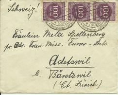 12.5.1923  300 M.-Brief Von Freienwalde Nach Adetswil-Bäretswil, Schweiz - Deutschland