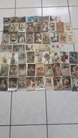Lot De 55 CP  Sur Le Thème De La Femme, Jeunes Filles, Fêtes, Fleurs, Couples, Etc. - 5 - 99 Postcards