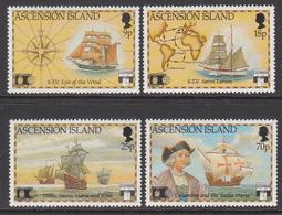 1992 Ascension Columbus Explorer Ships Complete Set Of 4 MNH - Ascension (Ile De L')