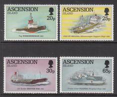 1994 Ascension Civilian Ships Cruise   Complete Set Of 4 MNH - Ascension (Ile De L')