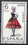 Spagna 1967 Sc. 1392 Donna Di Alava In Costume Tradizionale  MNH Spain Espana - Costumi