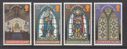 1997 Ascension Christmas Noel Stained Glass   Complete Set Of 4 MNH - Ascension (Ile De L')