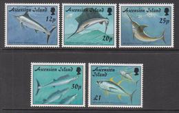 1997 Ascension Game Fish Poisson   Complete Set Of 5 MNH - Ascension (Ile De L')