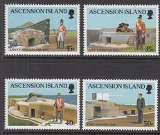 2000 Ascension Military Forts   Complete Set Of 4 MNH - Ascension (Ile De L')