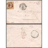 1183 LSC Lettre (cover) N°13B PC 638 Labastide-d'Anjou Cachet Type 22 1860 Boite Rurale X Non Identifiée Napoléon 3 - 1849-1876: Classic Period